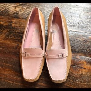 Life Stride. Pink & Tan leather flats